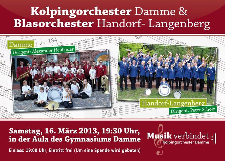 Gemeinsames Konzert mit dem Blasorchester Handorf-Langenberg
